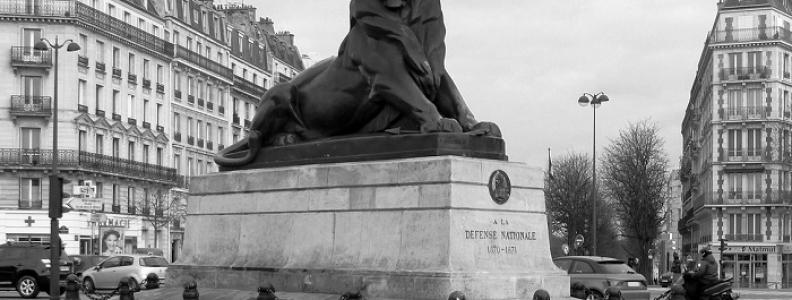 Lion de Belfort i inne lwy w Paryżu