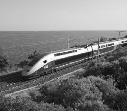 pociągi TGV kolej dużych prędkości we Francji