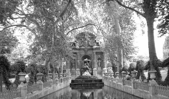 Fontanna Medyceuszy w Ogrodzie Luksemburskim w Paryżu