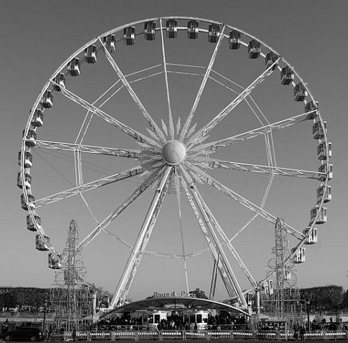 grand roue de paris, diabelski młyn w paryżu