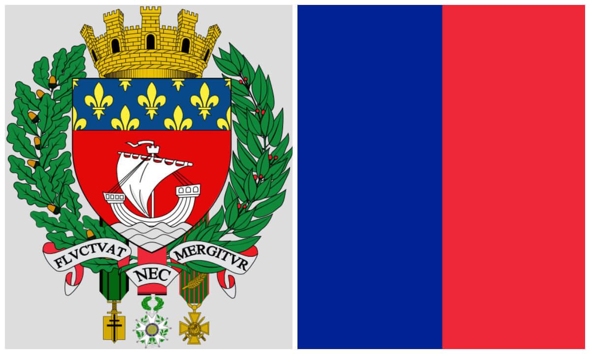 symbole paryża flaga paryża