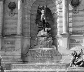Fontaine Saint-Michel w Paryżu